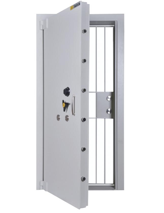 a steel vault door for book room